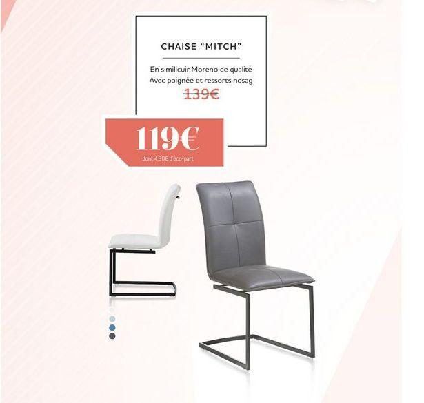 Chaise MITCH offre à 119€