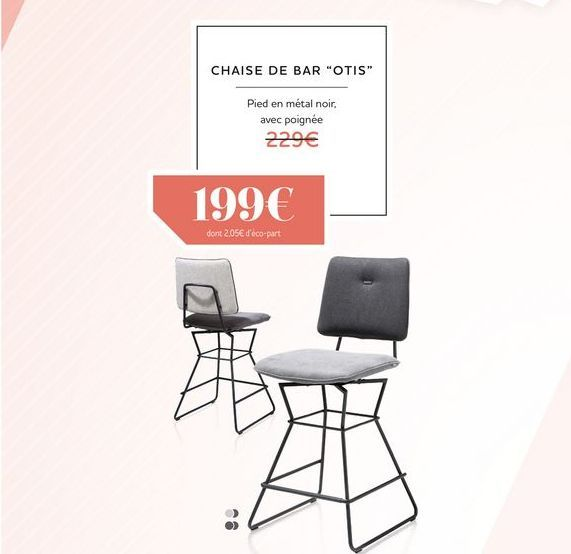 Chaise de bar OTIS offre à 199€