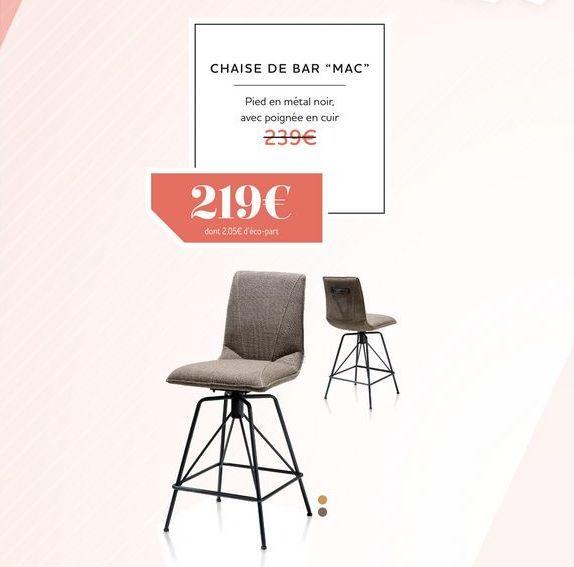 Chaise de bar MAC offre à 219€