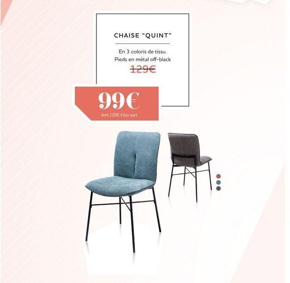 Chaise QUINT offre à 99€