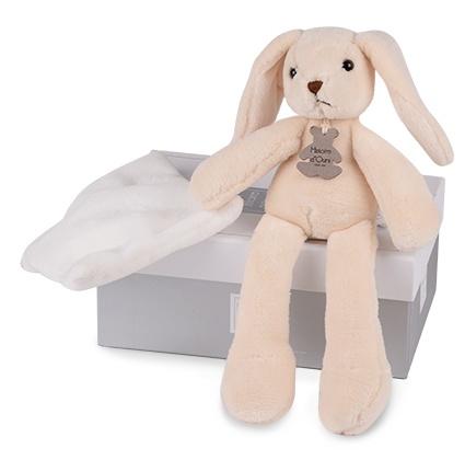 Doudou et Compagnie - Lapin Sweety Ivoire avec mouchoir 30 cm offre à 19,5€