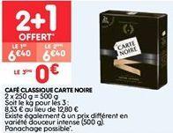 Café classique Carte noire offre à 6.4€