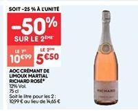Aoc cremant de limoux martial richard rose offre à 10.99€