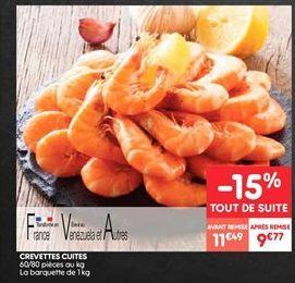 Crevettes cuites offre à 9.77€