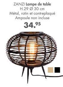 Lampe de table offre à 34.95€