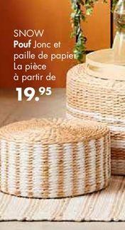 Pouf offre à 19.95€
