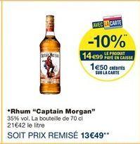 """Rhum """"Captain Morgan"""" offre à 14.99€"""