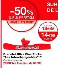 """Bracelet ultra fine rocks """"Les interchangeables"""" offre à 19.95€"""