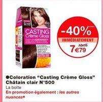 """Coloration """"casting crème gloss"""" châtain clair N°500 offre à 12.99€"""