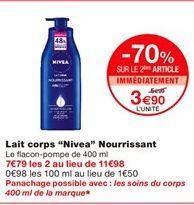 """Lait corps """"Nivea"""" nourrissant offre à 5.99€"""