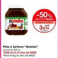 """Pâte à tartiner """"Nutella"""" offre à 4.99€"""