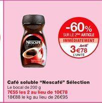 """Café soluble """"Nescafé"""" sélection offre à 5.39€"""