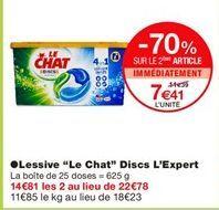 """Lessive """"Le chat"""" discs l'expert offre à"""