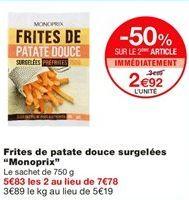 """Frites de patate douce surgelées """"Monoprix"""" offre à 3.79€"""