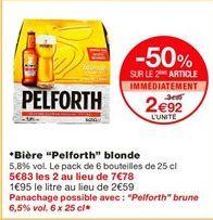 """Bière """"Pelforth"""" blonde offre à 3.89€"""