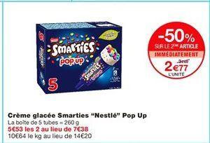"""Crème glacée smarties """"Nestlé"""" pop up offre à 3.69€"""