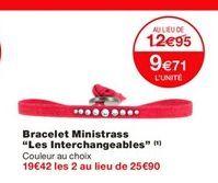 """Bracelet ministrass """"Les interchangeables"""" offre à 12.95€"""