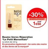 """Baume lèvres réparation """"Le petit marseillais"""" offre à"""