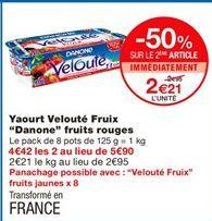 """Yaourt velouté fruits """"Danone"""" fruits rouges offre à 2.95€"""