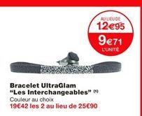 """Bracelet Ultraglam """"Les interchangeables"""" offre à 12.95€"""
