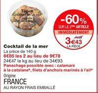 Cocktail de la mer offre à 4.89€
