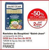 """Ravioles du dauphiné """" Saint Jean"""" offre à 3.39€"""