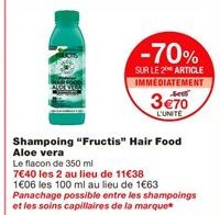 """Shampoing """"Fructis"""" hair food aloe vera offre à"""