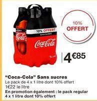 """""""Coca-cola"""" sans sucre offre à 4.85€"""