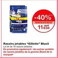 """Rasoirs jetables """"Gillette"""" blue3 offre à"""