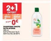 Shampoing timotei nutri intense  offre à 2.45€