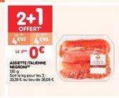 Assiette italienne negroni offre à 4.95€