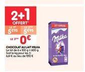 Chocolat au lait milka offre à 5.95€