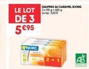Gaufres au caramel bjorg offre à 5.95€