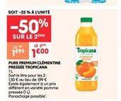 Pure premium clémentine prissée tropicana offre à 1€