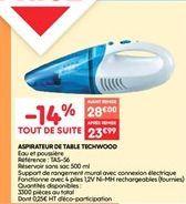 Aspirateur de table techwood offre à 23.99€