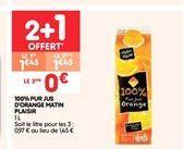 100% pur jus d'orange Matin Plaisir offre à 1.45€