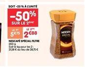 Nescafé spécial filtre offre à 2.88€