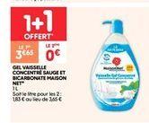 Gel vaisselle concentré sauge et bicarbonate Maison net offre à 3.65€