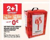 IGP pays d´oc merlot rouge les petites découvertes offre à 14.89€