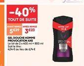 Gel de douche homme provocation axe offre à 3.23€