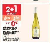 Muscadet sévre et maine sur lie château chesnaie-moriniére 2018 offre à 5.89€