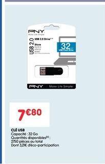 Cle usb offre à 7.8€