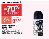 Déodorant bille Nivea men offre à 0.76€