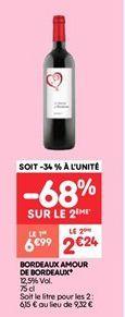 Bordeaux amour de bordeaux offre à 2.24€