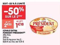L'ovale extra fondant president offre à 1.18€