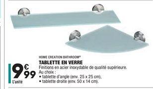 Tablette en verre offre à 9.99€