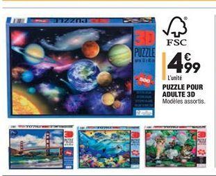 Puzzle pour adulte 3D offre à 4.99€