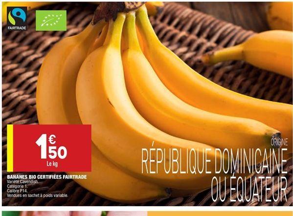 Bananes BIO offre à 1.5€