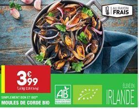 Moules de corde bio offre à 3.99€