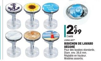 Bouchon de lavado décoré offre à 2.99€